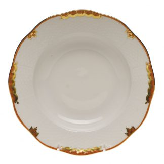 Herend Rim Soup Plate Rust