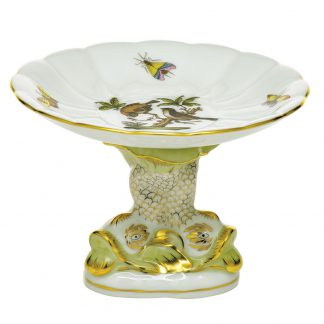 Herend Rothchild Bird Shell With Dolphin Stand