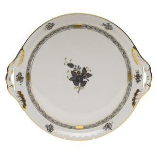 Herend Round Tray With Handles