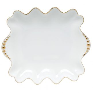 Herend Small Dish With Pearls