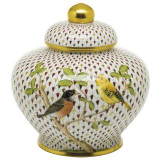 Herend Songbird Songbird Ginger Jar