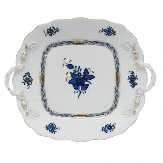 Herend Square Cake Plate With Handles