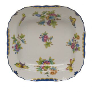 Herend Square Fruit Dish Blue
