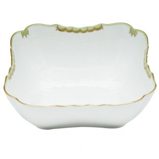 Herend Square Salad Bowl Green