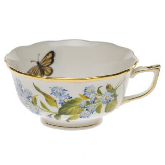 Herend Tea Cup Blue Wood Aster