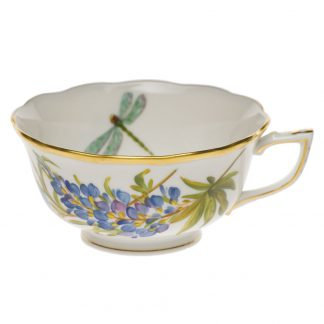 Herend Tea Cup Texas Bluebonnet