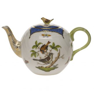 Herend Tea Pot With Bird