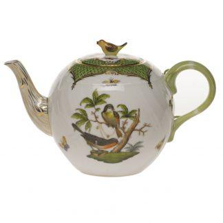 Herend Tea Pot With Bird