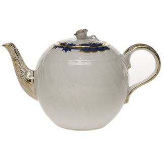 Herend Tea Pot With Rose Blue