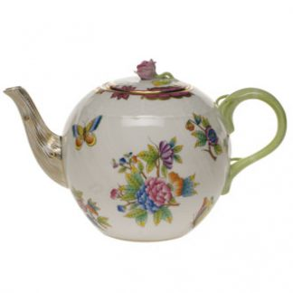 Herend Tea Pot With Rose Pink