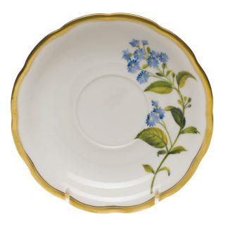 Herend Tea Saucer Blue Wood Aster