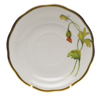 Herend Tea Saucer California Poppy