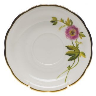 Herend Tea Saucer Passion Flower