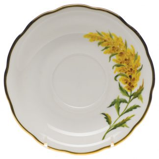 Herend Tea Saucer Tall Goldenrod
