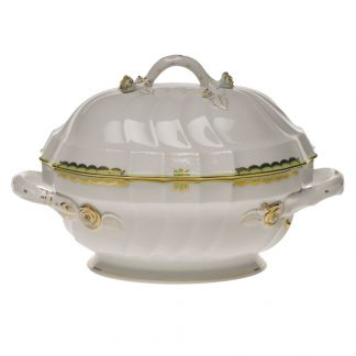 Herend Tureen With Branch Green