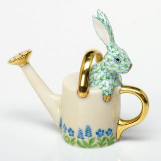 Herend Watering Can Bunny