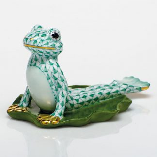 Herend Yoga Frog In Cobra Pose