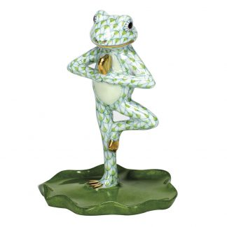 Herend Yoga Frog In Tree Pose