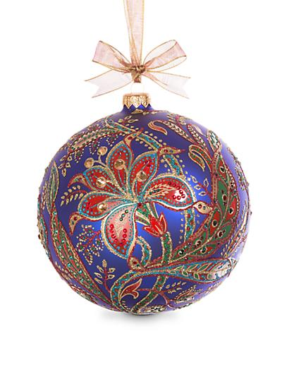 Jay Strongwater 2017 Opulent Glass Ornament - Jewel