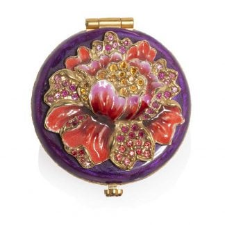 Jay Strongwater Angela - Floral Round Compact