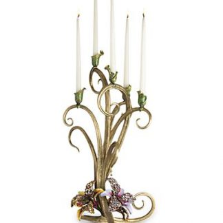 Jay Strongwater Aubree Orchid Candelabra - Flora