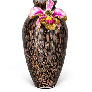 Jay Strongwater Audra Orchid Mini Vase - Flora