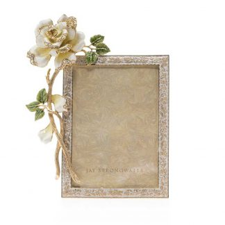 """Jay Strongwater Beauty Rose 5"""" X 7"""" Frame"""