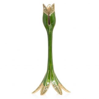 Jay Strongwater Brocade Abraham - Tulip Medium Candle Stick Holder