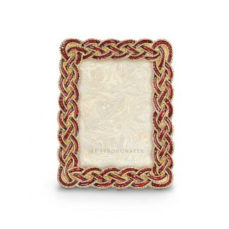 """Jay Strongwater Brocade Aileen Braided 3.5"""" X 5"""" Frame"""