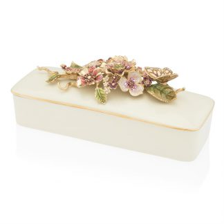 Jay Strongwater Brocade Clara Floral Branch Box