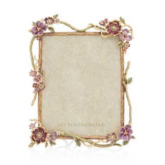 """Jay Strongwater Brocade Delilah Floral Branch 8"""" X 10"""" Frame"""