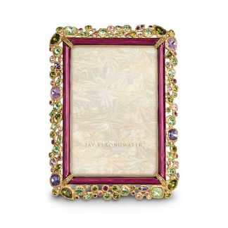 """Jay Strongwater Brocade Emery Bejeweled 4"""" X 6"""" Frame"""