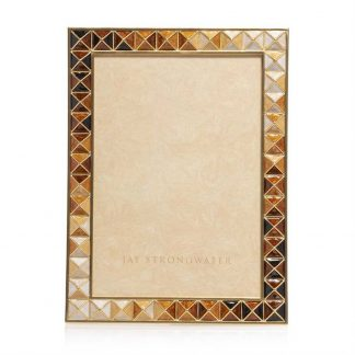 "Jay Strongwater Brocade Mosaic - Pyramid 5"" X 7"" Frame"