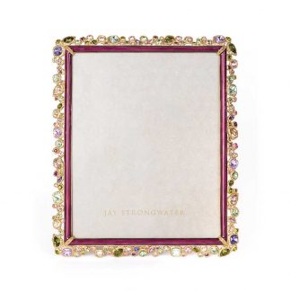 """Jay Strongwater Brocade Theo Bejeweled 8"""" X 10"""" Frame"""
