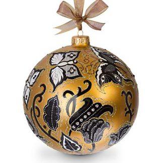 "Jay Strongwater Butterfly Nouveau Artisan 6"" Ornament - Golden"