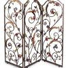 Jay Strongwater Celeste Flora & Fauna 3-Panel Room Screen - Jewel