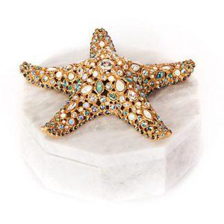 Jay Strongwater Charlene Starfish Box - Oceana