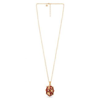 Jay Strongwater Chinoiserie Oval Pendant