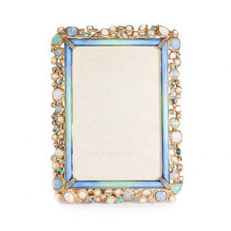 "Jay Strongwater Coastal Emery Bejeweled 4"" X 6"" Frame"