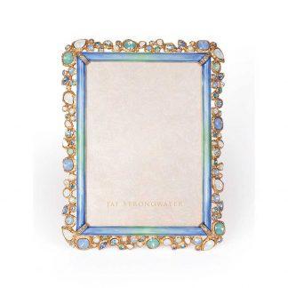 "Jay Strongwater Coastal Leslie Bejeweled 5"" X 7"" Frame"