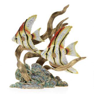 Jay Strongwater Coastal Simone & Jacques - Swimming Angel Fish
