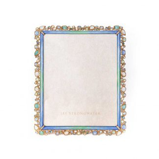 "Jay Strongwater Coastal Theo Bejeweled 8"" X 10"" Frame"