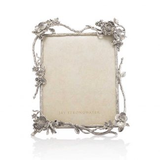 """Jay Strongwater Composition Dacia Floral Branch 8"""" X 10"""" Frame"""