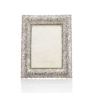 """Jay Strongwater Composition Katerina Ruffle Edge 5"""" X 7"""" Frame"""