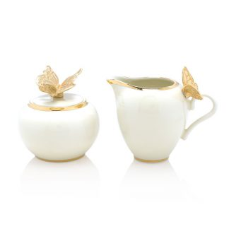 Jay Strongwater Composition Kinsley Butterfly Creamer And Sugar