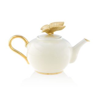 Jay Strongwater Composition Mae Butterfly Teapot