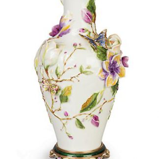 Jay Strongwater Cosette Magnolia Vase - Flora