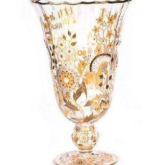 Jay Strongwater Danielle Vine Floral Vase - Platinum