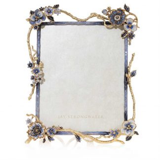 "Jay Strongwater Delilah Floral Branch 8"" X 10"" Frame"