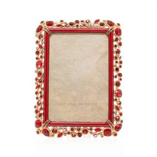 "Jay Strongwater Emery Bejeweled 4"" X 6"" Frame"
